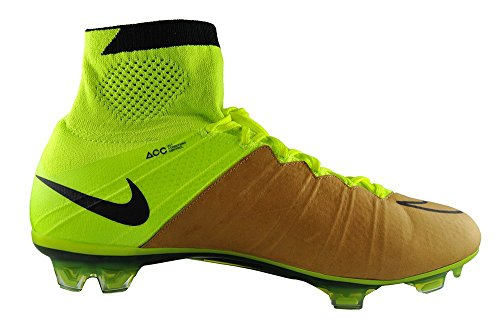 Nike Mercurial Superfly Lthr Fg, Chaussures de Football Homme Beige