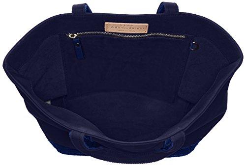 Cabas medium coton et paillettes bleu(890 Indigo)