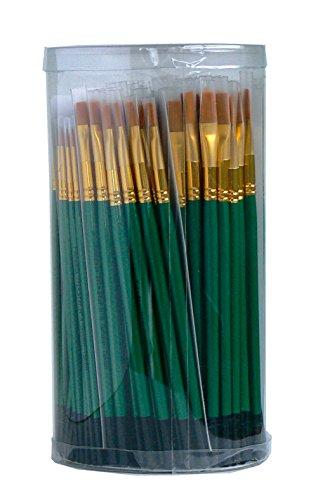 tristar-serie-104-lot-de-144-pinceaux-poils-synthetiques-taklon-or-manche-vert