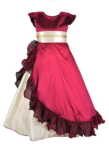 My Lil Princess Baby Girls Birthday Party wear Frock Dress_Eleena Purple_9-10 Years