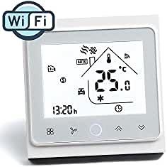Arxus WiFi Programable Smart Termostato Pantalla LCD Controlador de Temperatura para Calderas de Calefacción/Aire