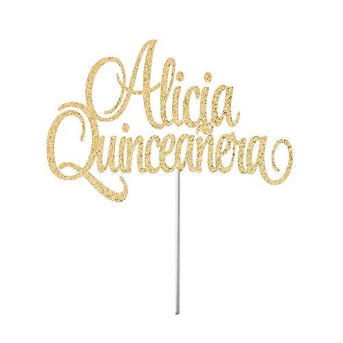 5 Geburtstag, Quinceanera-Topper, Miss Quince Party-Dekorationen, Espanol-Dekor, Party-Kuchenaufsatz ()