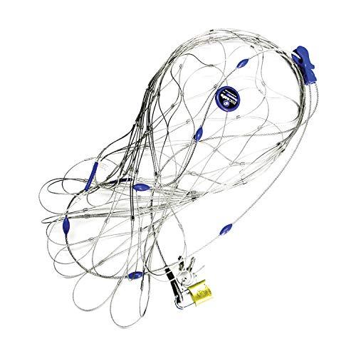 Pacsafe - Anti-Diebstahl Rucksack- und Taschenschutz, Drahtkäfig Schutz-System mit Schloß für Rucksäcke, Reisegepäck Netz, Diebstahlsc...