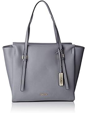 Calvin Klein Damen Marissa Large Tote, 002, Os Stofftasche, Grau (Steel Grey), 15x30x48 cm