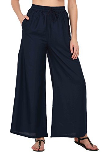Pistaa Women`s Rayon Best Comfortable Plain Solid Ethnic Palazzo Pant Bottom Trousers...