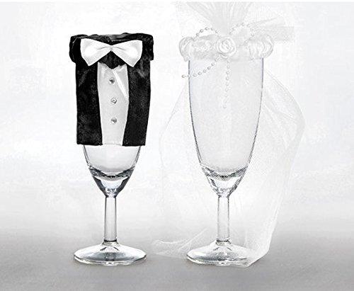 Glasdekoration im Brautpaarlook - 2
