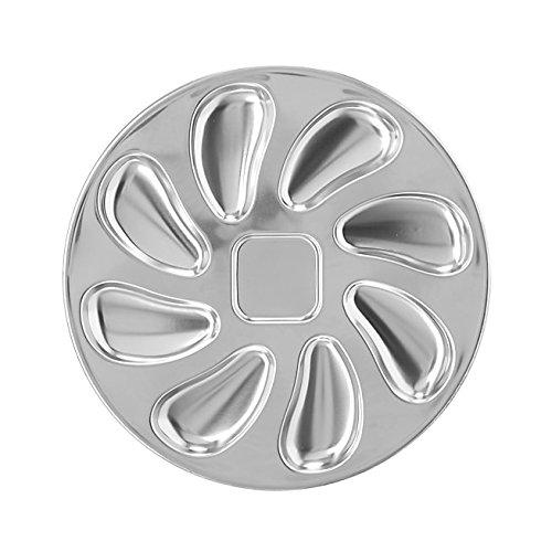 Austernteller/Meeresfrüchte, Edelstahl, Durchmesser 25cm