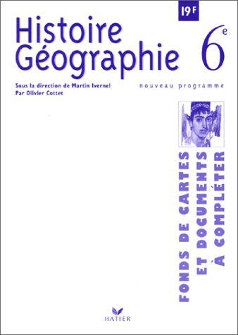 Histoire-Géographie : Fonds de cartes, 6e
