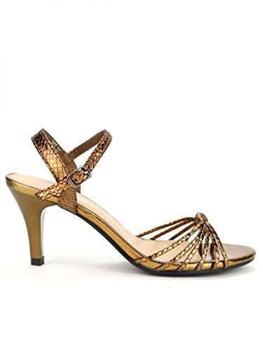 Cendriyon, Sandale Bronze BELLELI MODA Chaussures Femme Bronze