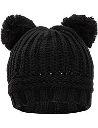 Toocool - Cappello Cappellino Donna Kawaii Berretto Tricot Pompon ponpon  Maglia YF-2063 0aa85c5a5249