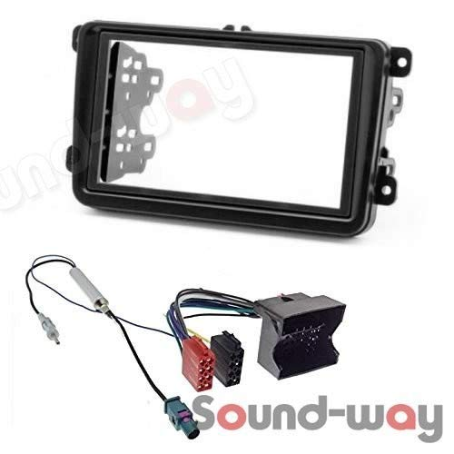 Sound Way - Kit Montaggio Mascherina Adattatore connettore autoradio Compatibile con VW Volkswagen Skoda Seat