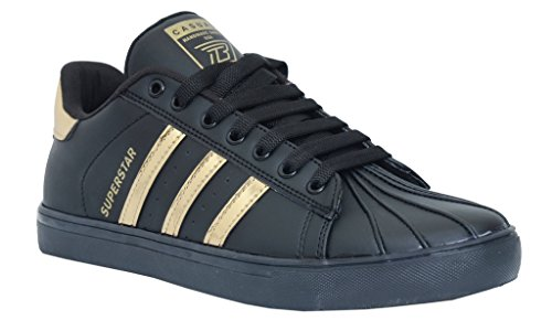 34% OFF on Black Tiger Shoes For Men s Superstar Synthetic Leather Casual  Shoes and sneakers 8074-G-Black on Amazon  50dc92989