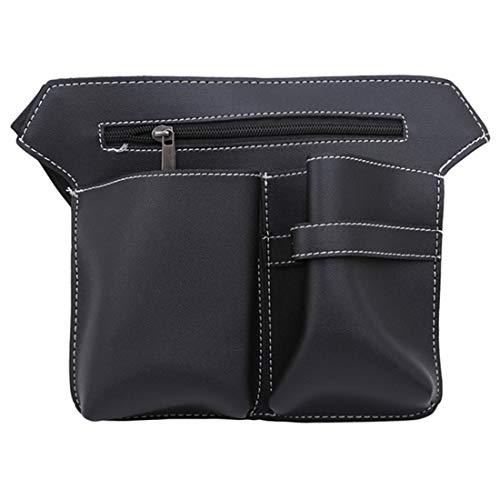 VWH Haarkamm Hüfttasche Tasche Friseur Haarnadel Salon Werkzeug Fall Haar Styling Liefert PU Tasche (schwarz)