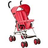Meen Cochecito De Bebé, Paraguas Plegable Ligero Portátil De Los Mini Cochecitos De Bebé del Bebé (Color : Red)