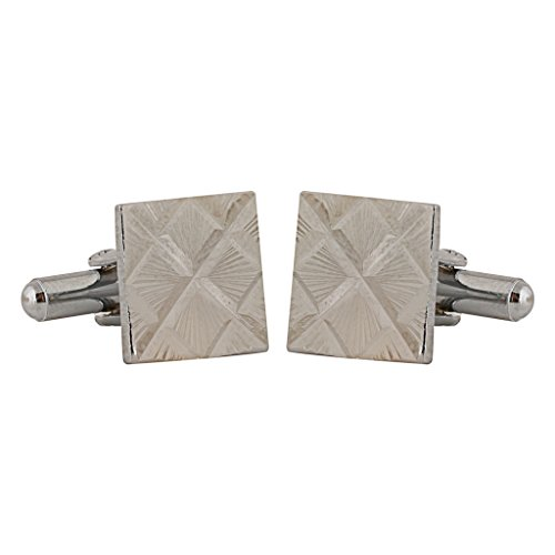 TRIPIN SQUARE SILVER cufflink FOR MEN WITH AMAZING SELF DESIGN IN A GIFT BOX  available at amazon for Rs.197
