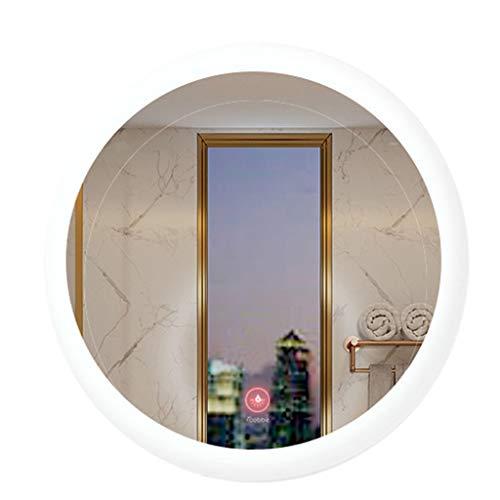 Spiegel LED Badezimmerspiegel Runde Hintergrundbeleuchtung ohne Rahmen 10 Sekunden gleichmäßige Heizung Intelligentes Entnebeln Berührungsschalter Geeignet für Hotelzimmer