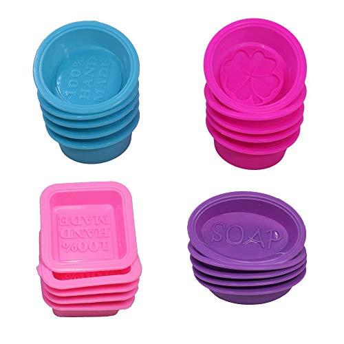 20 Stück Silikon Seife Fine Good Cupcake weiche Muffin Backform Lila Blau Pink Rose Rot