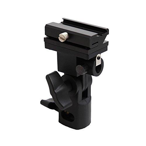 Kaavie Lichtstativ-Universaldrehgelenk für Blitz/Blitzschuh/Fotoschirm, in Schwarz