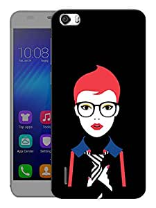 "Humor Gang Sharp Confident Girl Printed Designer Mobile Back Cover For ""Huawei Honor 6"" (3D, Matte Finish, Premium Quality, Protective Snap On Slim Hard Phone Case, Multi Color)"