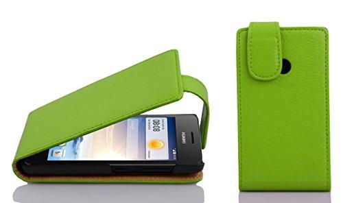 Cadorabo - Flip Style Hülle für Huawei ASCEND G330 - Case Cover Schutzhülle Etui Tasche in APFEL-GRÜN