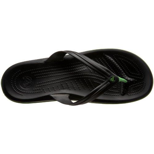 crocs Unisex-Erwachsene Crocband Flip Pantoffeln Schwarz (Black 001)