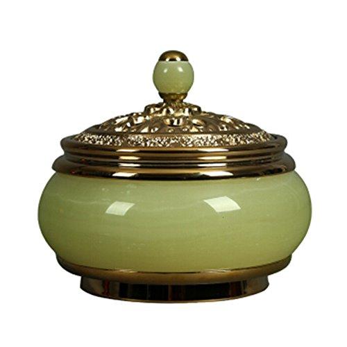 Retro il soggiorno è decorato con articoli buddisti antichi bruciatori di incenso di giada. (colore : verde)