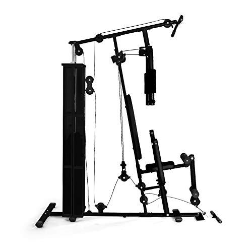klar fit ultimate gym3000 • palestra multifunzionale • stazione multiuso • allenamento professionale • telaio carichi pesanti • esercizi multipli spalle, petto, braccia, gambe e schiena • nero