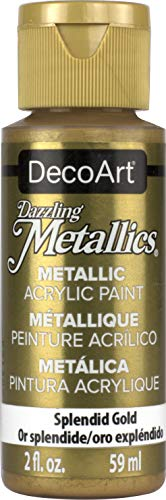 DecoArt USA Produkt - Dazzling Metallics Acrylic Paint 2 Ounces-Splendid Gold