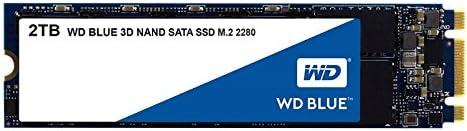 WD Blue 3D NAND 2 TB SATA SSD, Interne M.2 2280 Festplatte bis zu 560 MB/s Lese- und 530 MB/s seq. Schreibgeschwindigkeit