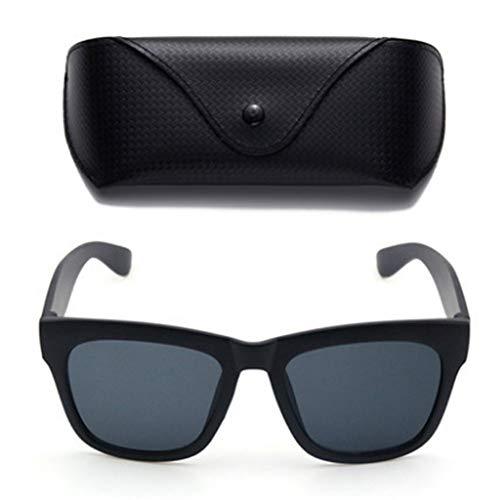 ZSHHG New Wave Korea Sonnenbrille Frauen Sonnenbrille Star Driver Spiegel Männer Retro Quadrat Gesicht Runde Brille Schwarz Rahmen Schwarz Film 140 * 140 * 55Mm