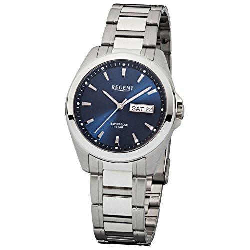 REGENT 11150521 - Reloj para hombres, correa de acero inoxidable