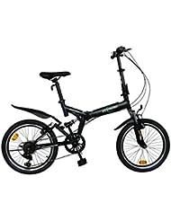 "ECOSMO 20"" Folding Mountain Bicycle Bike 6SP SHIMANO-20SF02BL"