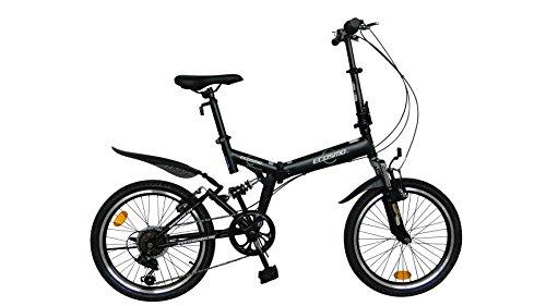 ECOSMO, zusammenklappbares Mountainbike / Fahrrad, 20 Zoll (66cm), 6 Gänge, SHIMANO-20SF02BL