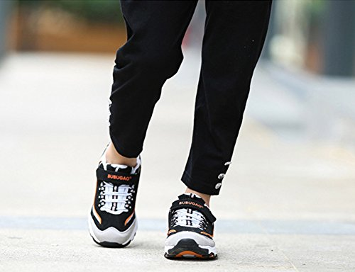 Wealsex Unisex-Kinder Sneakers Damen Herren Laufschuhe Schwarz