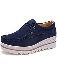 Hombres Moda Bajo Zapatillas Casual Pisos Lona Zapatos (EUR44, Caqui)