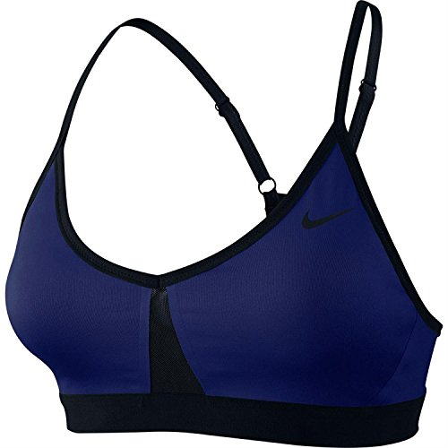 Nike Pro Indy Colourblock Bra Damen BH Blau / Schwarz