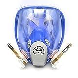 Para 6800silicona máscara de gas completa-protección para cara mascarilla 7pcs traje pintura nueva