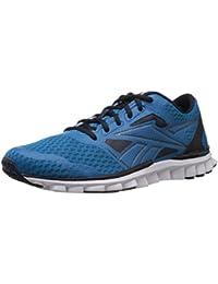 Reebok Men's Realflex Speed 2.0 Blue, Navy, Met and White Running Shoes - 6 UK