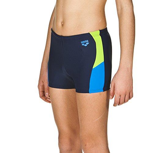 arena Jungen Sport Badehose Ren (Schnelltrocknend, UV-Schutz UPF 50+, Chlor-/Salzwasserbeständig), Navy-Pix Blue-Leaf (708), 140