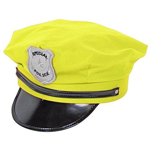Hats Kostüm Polizei - Folat Creative Kostüm Polizei Hat-Neongelb