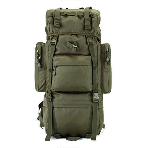 Ltjlwb-backpack zaino per escursioni all'aperto zaino per escursionismo impermeabile alpinismo campeggio multifunzione grande capacità verde 70l 100l