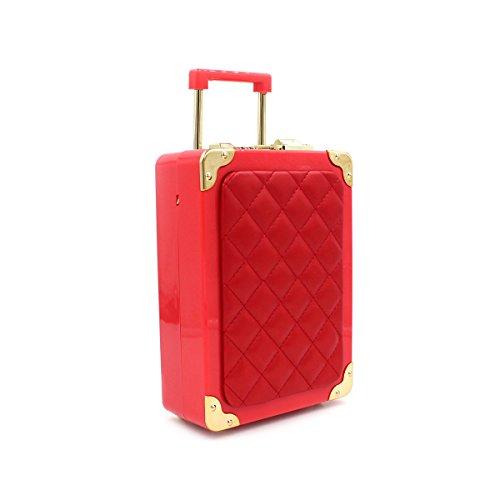 WYB Minibeutel / Taschenwagen / Abendtasche / Acryl-Tasche / Handgepäck Red