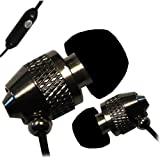 IN EAR EARPHONES HEADPHONE WITH MICROPHONE METAL NOISE ISOLATING FOR MP3 IPOD IPHONE 4 5 BLACK