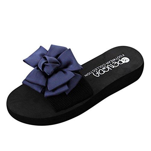 Uomogo® infradito donne estate sandali donne casual scarpe da spiaggia ciabatte pantofole piatta scarpe aperte toe,sandali infradito estivo con paillettes e sandali infradito da donna (asia 37, nero)
