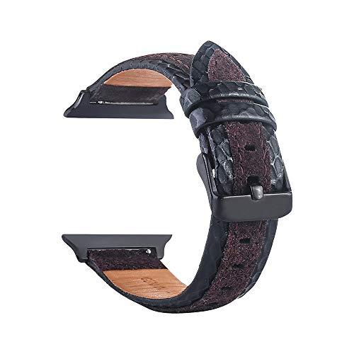 TianranRT Leder Handgelenk Uhr Strap Band Schnalle Gürtel Ersatz für IWatch Apple Watch (C, 38mm) - Ersatz-bodenbürste