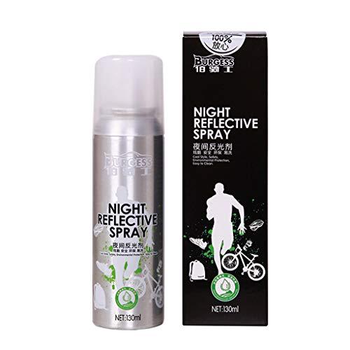 POTOU Night Reflective Spray Paint Reflektierende Sicherheitsmarkierung Anti Accident Riding Bike Night Spray Warnweste Reflektor Sicherheitsweste Joggen Reiten