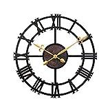 Dekorationsuhren Große Metall Wanduhr Antique Vintage Retro Style für 43cm Home Hotel Bar Büro Dekor Geschenk Idee römische Numeralsrals ohne Batterie Persönlichkeit