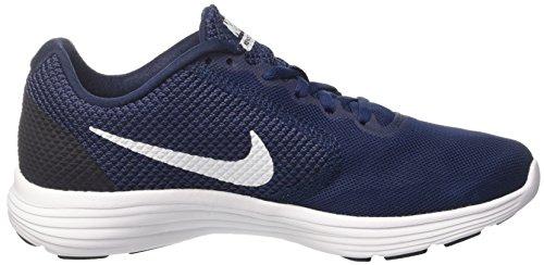 Nike Revolution 3, Scarpe Running Uomo Blu (Midnight Navy/White/Obsidian)