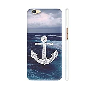 Colorpur Oppo F1s Cover - Anchor On Sea Printed Back Case