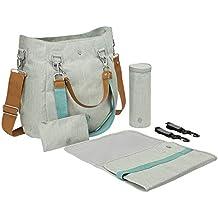 Lässig Wickeltasche Green Label Mix'n Match Bag mit mehreren verstellbaren Schultergurten inkl. Wickelzubehör, light grey